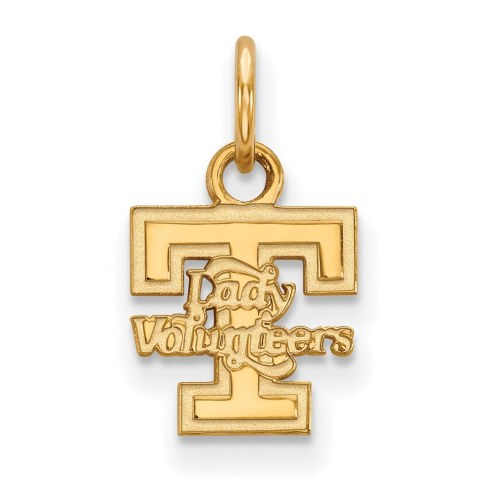 Tennessee Volunteers Sterling Silver Gold Plated Extra Small Pendant