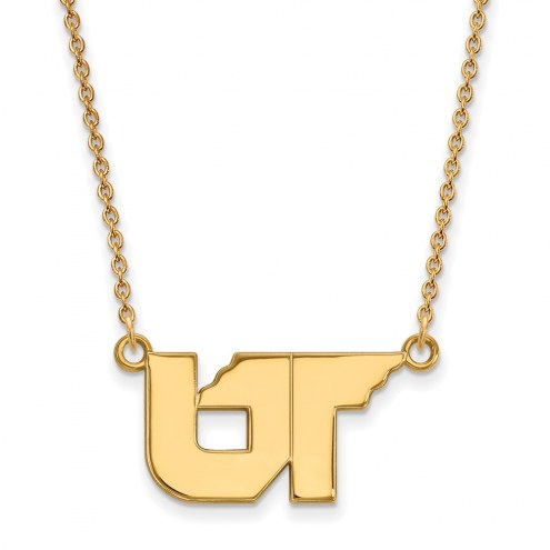 Tennessee Volunteers Sterling Silver Gold Plated Small Pendant Necklace