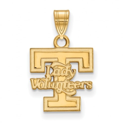 Tennessee Volunteers Sterling Silver Gold Plated Small Pendant