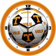 Tennessee Volunteers Soccer Wall Clock