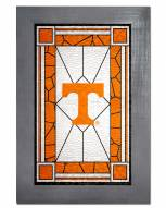 Tennessee Volunteers Stained Glass with Frame