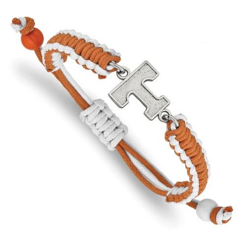 Tennessee Volunteers Stainless Steel Adjustable Cord Bracelet