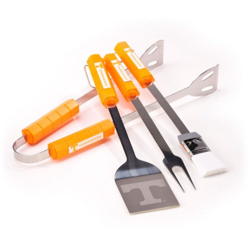 Tennessee Volunteers NCAA 4-Piece Stainless Steel BBQ Set