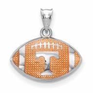 Tennessee Volunteers Sterling Silver Enameled Football Pendant