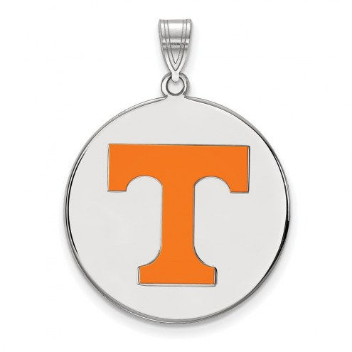 Tennessee Volunteers Sterling Silver Extra Large Enameled Disc Pendant