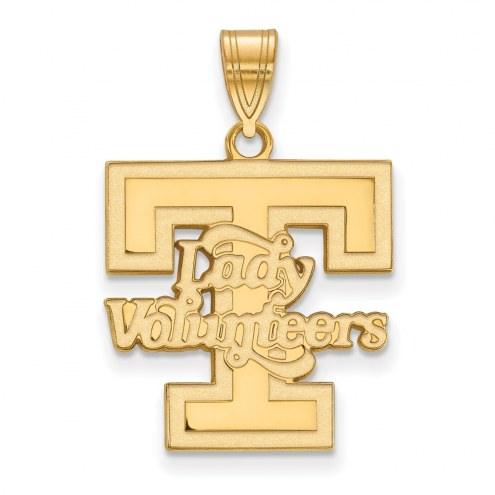 Tennessee Volunteers Sterling Silver Gold Plated Large Pendant