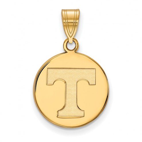 Tennessee Volunteers Sterling Silver Gold Plated Medium Disc Pendant