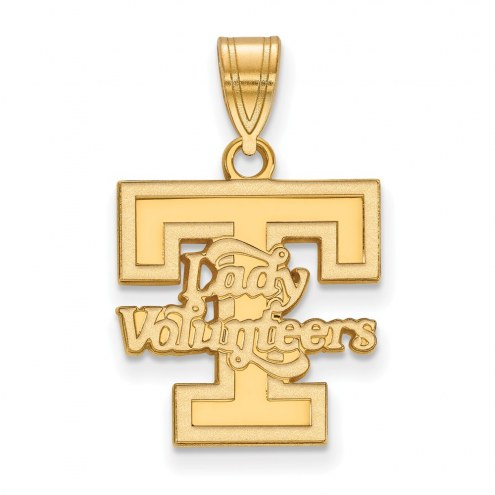 Tennessee Volunteers Sterling Silver Gold Plated Medium Pendant