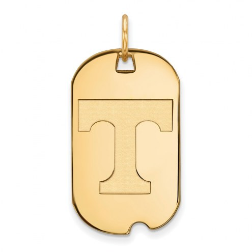 Tennessee Volunteers Sterling Silver Gold Plated Small Dog Tag