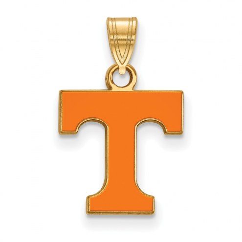 Tennessee Volunteers Sterling Silver Gold Plated Small Enameled Pendant