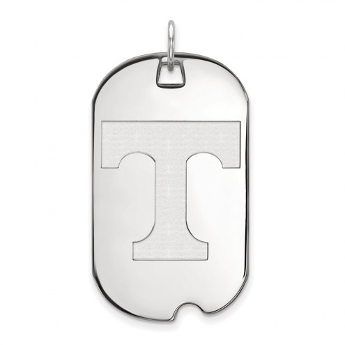 Tennessee Volunteers Sterling Silver Large Dog Tag