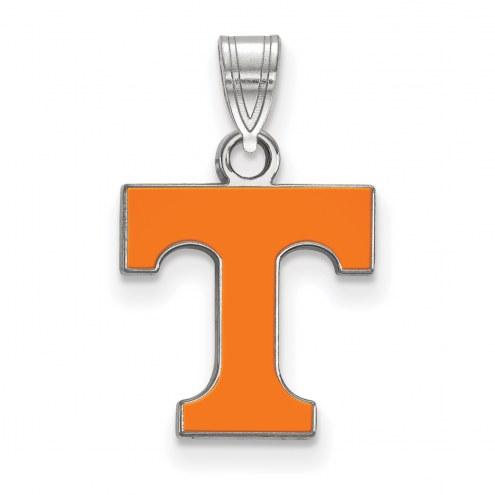 Tennessee Volunteers Sterling Silver Small Enamel Pendant