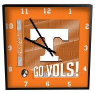 Tennessee Volunteers Team Black Square Clock