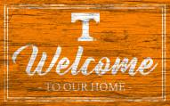 Tennessee Volunteers Team Color Welcome Sign