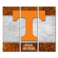 Tennessee Volunteers Triptych Double Border Canvas Wall Art