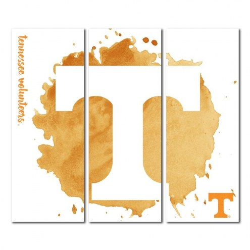 Tennessee Volunteers Triptych Watercolor Canvas Wall Art