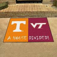 Tennessee Volunteers/Virginia Tech House Divided Mat