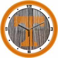 Tennessee Volunteers Weathered Wood Wall Clock