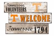 Tennessee Volunteers Welcome 3 Plank Sign