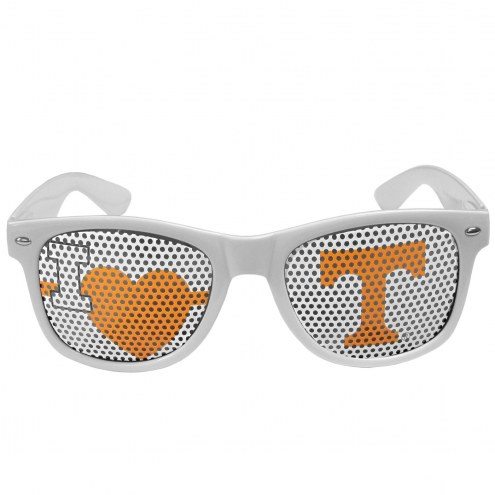 Tennessee Volunteers White I Heart Game Day Shades