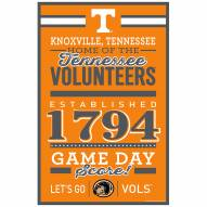 Tennessee Volunteers Established Wood Sign