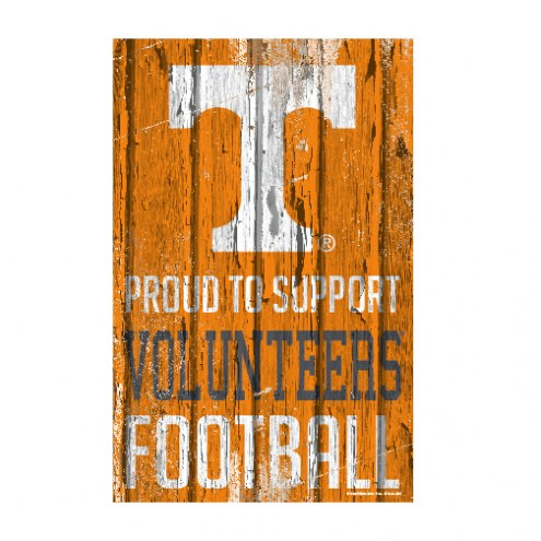 Tennessee Volunteers Proud to Support Wood Sign