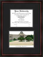 Texas A&M University College Station Diplomate Framed Lithograph with Diploma Opening