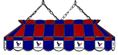"""Houston Texans NFL Team 40"""" Rectangular Stained Glass Shade"""