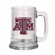 Texas A & M Aggies College Glass Tankard Beer Mug 2-Piece Set