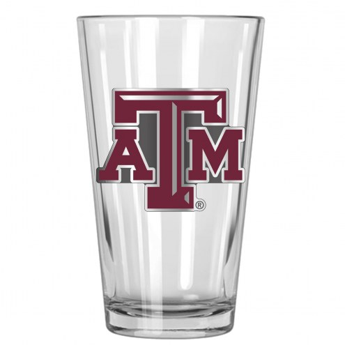 Texas A & M Aggies College 16 Oz. Pint Glass 2-Piece Set