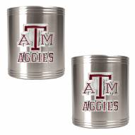 Texas A & M Aggies College Stainless Steel Can Holder 2-Piece Set