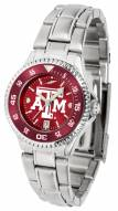 Texas A&M Aggies Competitor Steel AnoChrome Women's Watch - Color Bezel