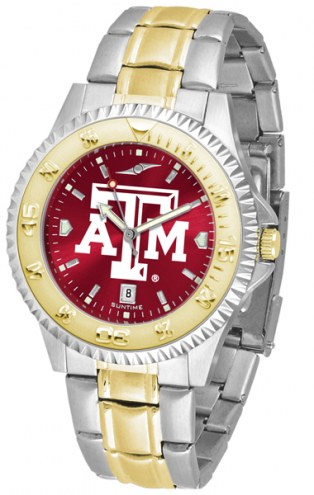 Texas A&M Aggies Competitor Two-Tone AnoChrome Men's Watch