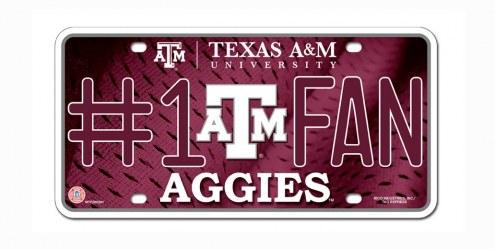 Texas A&M Aggies #1 Fan License Plate
