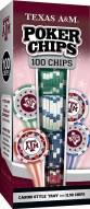 Texas A&M Aggies 100 Piece Poker Chips