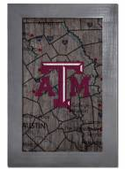 "Texas A&M Aggies 11"" x 19"" City Map Framed Sign"