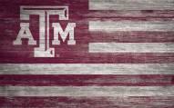"Texas A&M Aggies 11"" x 19"" Distressed Flag Sign"