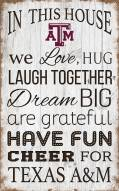"""Texas A&M Aggies 11"""" x 19"""" In This House Sign"""