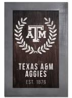 "Texas A&M Aggies 11"" x 19"" Laurel Wreath Framed Sign"