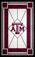 """Texas A&M Aggies 11"""" x 19"""" Stained Glass Sign"""