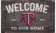 """Texas A&M Aggies 11"""" x 19"""" Welcome to Our Home Sign"""