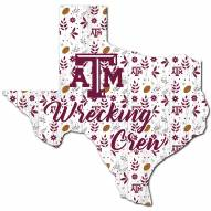 """Texas A&M Aggies 12"""" Floral State Sign"""