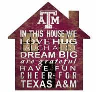 """Texas A&M Aggies 12"""" House Sign"""