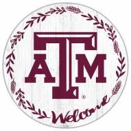 "Texas A&M Aggies 12"" Welcome Circle Sign"