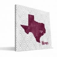 """Texas A&M Aggies 12"""" x 12"""" Home Canvas Print"""