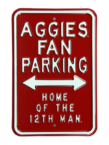 Texas A&M Aggies 12th Man Parking Sign