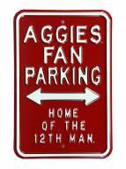 Texas A&M Aggies 12th Man Parking Sign