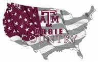 """Texas A&M Aggies 15"""" USA Flag Cutout Sign"""