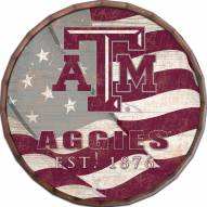 "Texas A&M Aggies 16"" Flag Barrel Top"