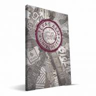 "Texas A&M Aggies 16"" x 24"" Scrapbook Canvas Print"